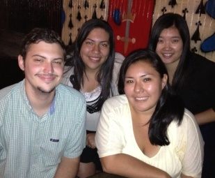 Our first EGSG Ad Hoc student committee meets over dinner at the REP Conference in San Juan, Puerto Rico. From left to right: Matt Cook, Ana Sanchez, Jennifer Hinojosa, and Wan Yu.