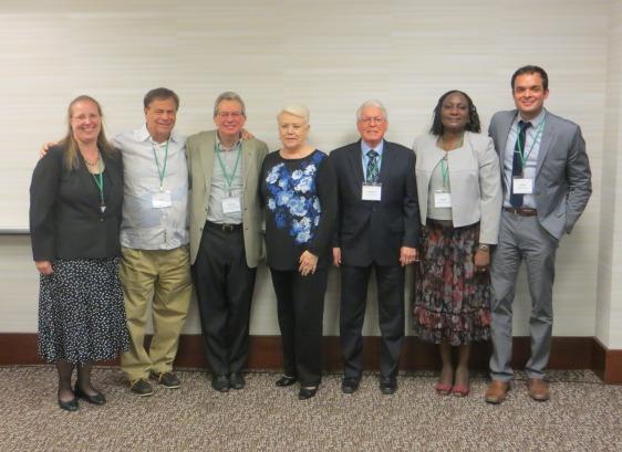 Lawrence Estaville receives the 2014 EGSG Distinguish Scholar Award.